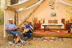 Jackson Hole, Wyoming , Redtail Resort ~camping in style ~ love the fire pit.