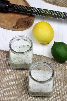 Make Your Own Citrus Sea Salt Blends: Lemon Basil and Chili Lime. Substitute sea salt with Salt for Life Sea Salt Blend. Homemade Spices, Homemade Seasonings, Spice Blends, Spice Mixes, Chutney, Lemon Basil, Lemon Salt, Garlic Salt, Gourmet Salt