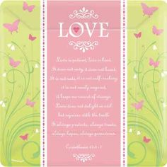 Love is Patient Banquet Plates for a bridal shower. Cute butterflies with the bible verse.