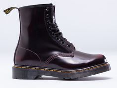 Dr. Martens 8 Eye Boot in Cherry Red Arcadia at Solestruck.com