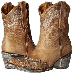 Old Gringo Amelia (Bone) Cowboy Boots (33,470 INR) ❤ liked on Polyvore featuring shoes, boots, mid-calf boots, distressed cowgirl boots, floral cowgirl boots, western boots, mid calf leather boots and leather cowgirl boots