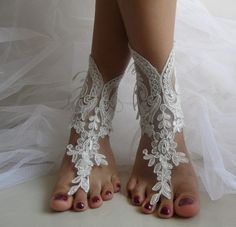 ivory lace pearls,bridal sandals, free ship,
