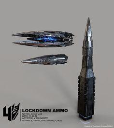 Transformers Age of Extinction Vitaly Bulgarov Concept Art Lockdown Rifle Ammo