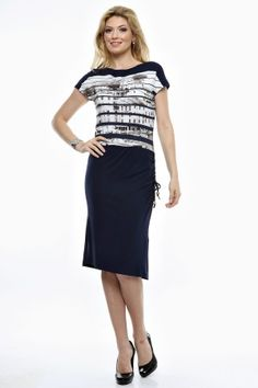 Rochie tricot uni cu fata imprimata. Uni, Dresses For Work, Fashion, Tricot, Moda, Fashion Styles, Fashion Illustrations