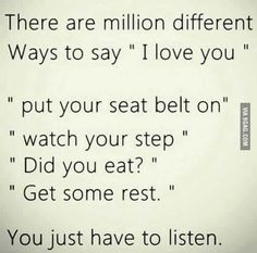 There are million different ways to say 'I love you'