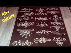 Rangoli Side Designs, Simple Rangoli Border Designs, Rangoli Designs Latest, Rangoli Borders, Free Hand Rangoli Design, Small Rangoli Design, Rangoli Ideas, Rangoli Designs Diwali, Rangoli Designs With Dots