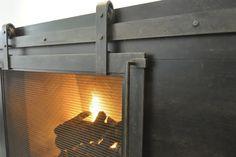 Steel Fireplace Surround | ... : Rustic-Yet-Modern Steel Fireplace Surround | Ironhaus.com Love this!