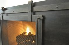 Steel Fireplace Surround | ... : Rustic-Yet-Modern Steel Fireplace Surround | Ironhaus.com Love this!