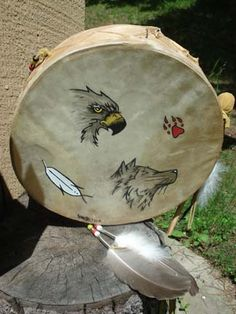 Wolf and Eagle Drum - Reverence and Communication.