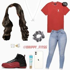 Summer Swag Outfits, Dope Swag Outfits, Baddie Outfits Casual, Really Cute Outfits, Cute Teen Outfits, Cute Comfy Outfits, Girls Fashion Clothes, Teen Fashion Outfits, Black Girl Fashion
