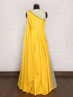Shop Pista green color silk party lehenga choli online from India. Indian Gowns Dresses, Indian Fashion Dresses, Indian Designer Outfits, Indian Bridal Fashion, Indian Wedding Outfits, Wedding Dress, Designer Party Wear Dresses, Kurti Designs Party Wear, Stylish Dresses For Girls