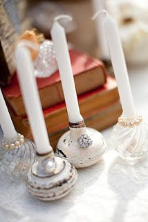 repurpose old door knobs as candle holders