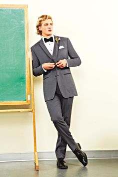 You'll be looking like class president in a dapper gray #tuxedo at #prom. #PromNation