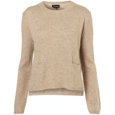 Knitted Crew Pocket Jumper ($76) ❤ liked on Polyvore