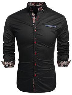 Coofandy Men's Fashion Slim Fit Dress Shirt Casual Shirt…