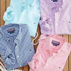 Love these pastel checked vineyard vines blouses!