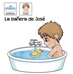 """""""La bañera de José"""" es un cuento adaptado a pictogramas para acercarnos al aprendizaje de la autonomía en el baño, donde nuestro protagonist..."""