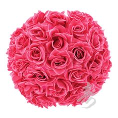 "12"" Fuchsia Rose Flower Ball Lantern $27.95-paperlanternstore.com- For more amazing finds and inspiration visit us at http://www.brides-book.com/#!brides-book-outlet-bridal/c9wq"