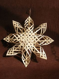 Carolina Snowflake  natural reed  12 inches by ParkStreetStudios