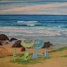 Ponte cómodo. El mirador – Belén Eizaguirre Alvear Painting, Oil On Canvas, Beaches, Canvases, Painting Art, Paintings, Painted Canvas, Drawings