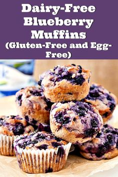 Dairy-Free Blueberry Muffin Recipe When you are gluten-free, have dairy or egg allergies, or eat a vegan diet, it can be hard to find Dairy Free Muffins, Dairy Free Eggs, Dairy Free Diet, Lactose Free, Egg Free Recipes, Muffin Recipes, Real Food Recipes, Yummy Food, Weights