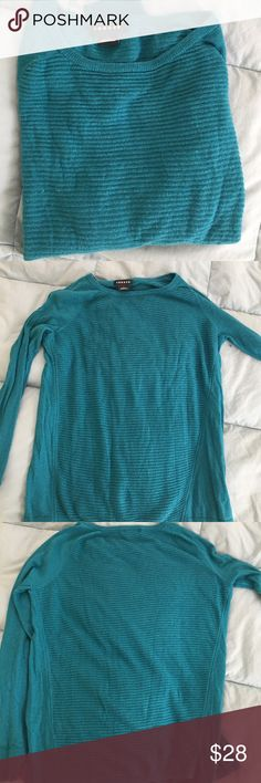 Trouvé deep aqua lightweight sweater Trouvé lightweight sweater. Long sleeves. Bought in Nordstrom but never wore it but a few times which is why I'm selling. Beautiful deep aqua color 🌏🎨 Trouve Sweaters Crew & Scoop Necks