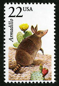 and worldwide postage stamps for stamp collectors. Stamp World, Postage Stamp Art, Armadillo, Us History, Mail Art, Stamp Collecting, Natural History, Mammals, Dinosaur Stuffed Animal