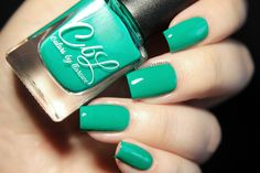 Colors by llarowe Summer2016 Cremes, Crellies & Shimmers - Creme Of The Crop - this is a medium sea green creme. Dries semi matte, topcoat for shine! Swatch by @fashionpolish
