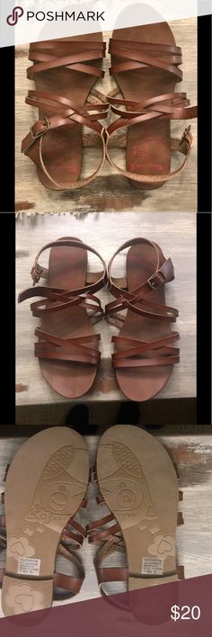 NWT Jellypop Gladiator Brown Sandals Size: 7.5 Brand New Women's Gladiator Style Brown Sandals Size 7.5 Jellypop Shoes Sandals
