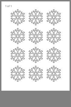 Royal Icing Templates, Royal Icing Transfers, Stencil Templates, Piping Templates, Paper Snowflake Template, Snowflake Stencil, Snowflake Designs, Snowflake Cookies, Cupcake Template