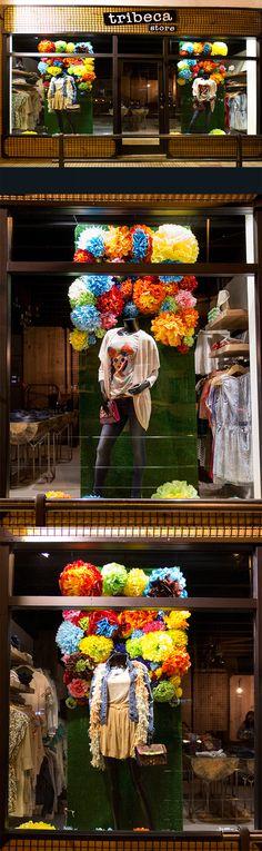 Escaparates de primavera para Tribeca nueva tienda de moda en Sarón.