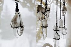 Hanging crystals