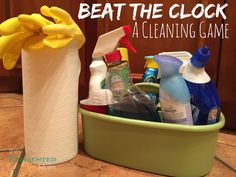 Hate cleaning? Play Beat the Clock: A Cleaning Game to make it go by faster!