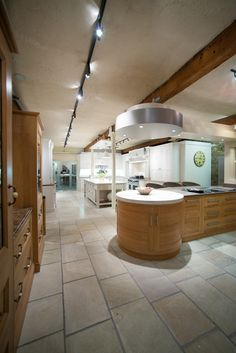 Curved cabinets can create a real talking point in a kitchen.