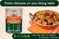 Try organic aloo masala from Satvik Shop.