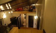 The duallofts add a very significant amount of usable space.   #TinyHouseforUs