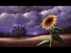 Sunflower Among a Stormy Sky Painting - Time Lapse Acrylic Painting by Nagualero Time Painting, Sky Painting, Acrylic Painting Techniques, Painting Videos, Painting & Drawing, Acrylic Paintings, Cloud Tattoo, Acrylic Tutorials, Learn To Paint