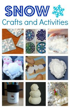 Snow Crafts and Activities for Kids
