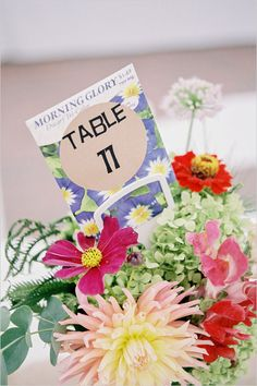 flower seed table numbers