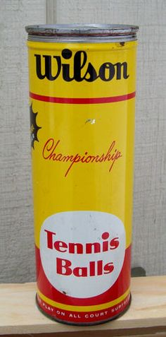 Vintage Wilson Championship Tennis Balls Tin Container with 2 Balls Advertising | eBay