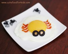 Halloween Breakfast: Spider Egg from Cute Food For Kids