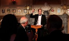 Prince William encourages guests at the Tusk Trust gala to 'drink up'
