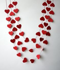 Valentines Day decor Heart garland Valentine garland Paper garland Wedding decoration Bridal shower Red heart garland by TransparentEsDecor Funny Valentine, Roses Valentine, Valentine Banner, Valentines Day Hearts, Valentine Heart, Valentine Crafts, Valentine Backdrop, Gold Wedding Decorations, Garland Wedding