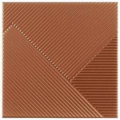Copper Striped Textured Wall Tiles - Julien Macdonald - 250 x 250mm