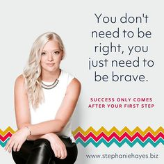 You don't need to be right, you just need to be brave.⠀ ⠀ Let me tell you a story about Mary. Mary is my client, and she is in the process of building her business, like all her peers. And, like so many of those peers, she is about to go out and try something that feels really, really, well, unreachable. ⠀ ⠀ But she knows, logically, that it's not, because she sees others do it. She's seen her own success in the parts that have worked and has been encouraged to believe in a glimmer of hope…