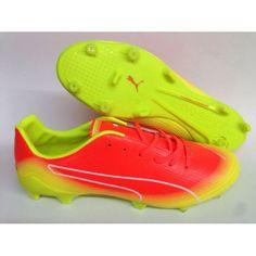 Puma evoSPEED Fresh FG красный желтый белый футбольные бутсы для игры на  твердом грунте b642d8dc3d8ca