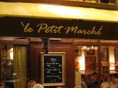 Amina: Le Petit Marche. Paris.  my absolute FAVORITE little bistro in Paris.  absolutely delicious food.