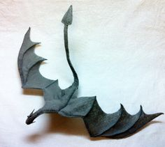 Skyrim Paarthurnax Dragon Plushie  Would be neat to make out of leather scraps