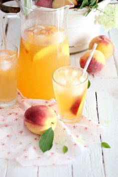 From Joanna Gaines ~ Peach Tea Punch ~ Yummy!
