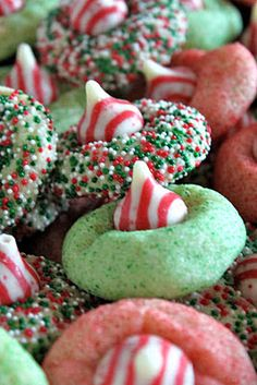 Candy Cane Blossoms- Christmas Cookies - #cookies #foodporn #christmascookies #Dan330 http://livedan330.com/2014/12/14/candy-cane-blossoms-christmas-cookies/
